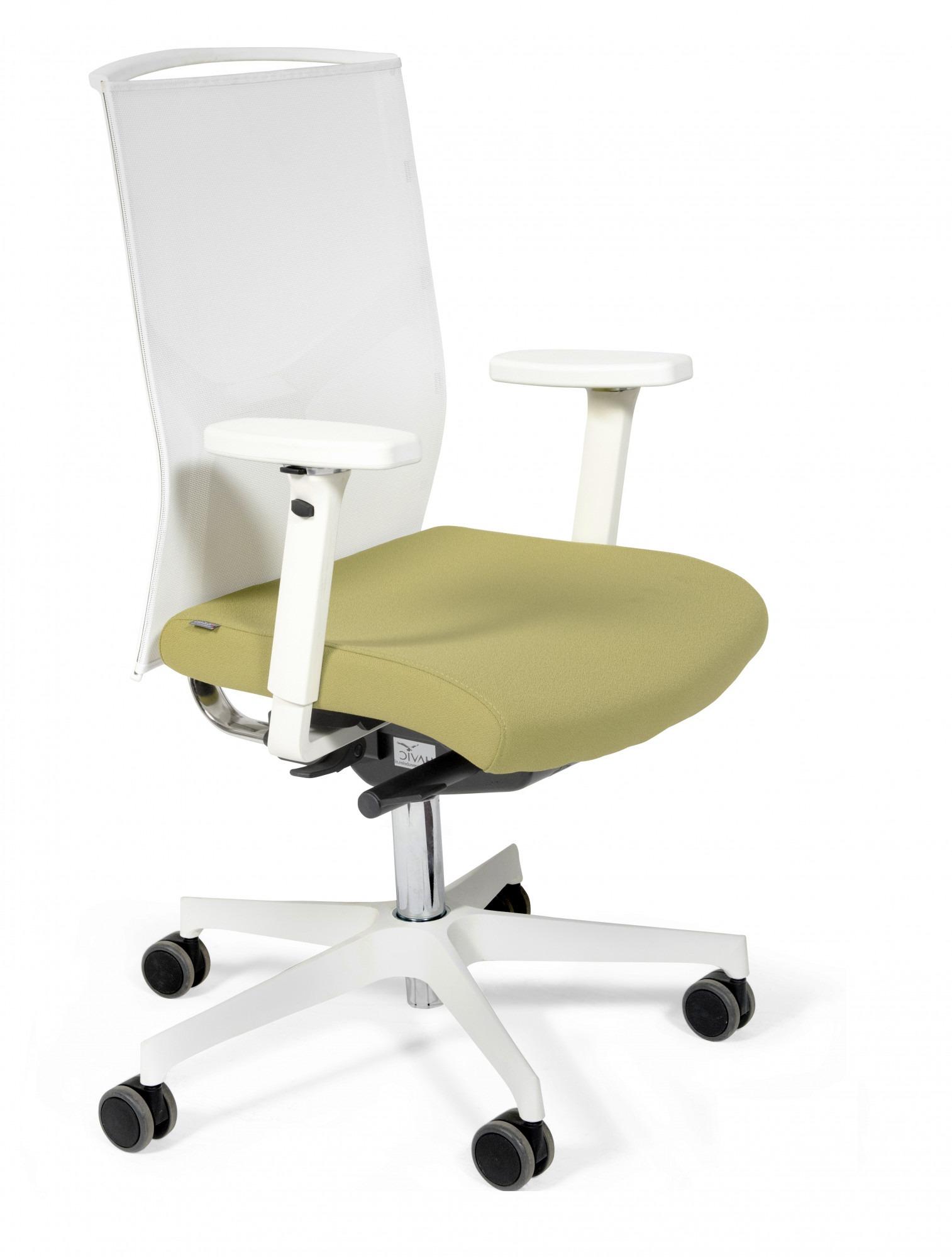 Bureaustoel De Wit.Ergonomische Bureaustoel Fin Wit Ergonomische Bureaustoelen