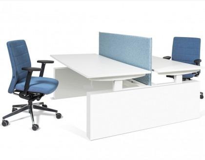Sense duodesk met ombouw hoogte instelbaar met stoelen