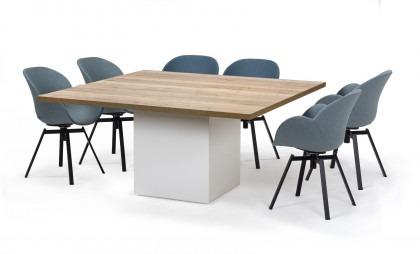 Vergadertafel Cube 160 x 160 cm 6 stoelen
