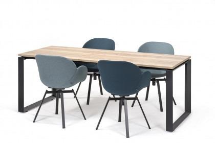Vergadertafel Dia met Davos stoelen blauw