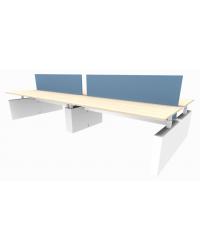 Elektrische Ergo 4-persoons bench werkplek