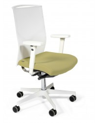 Ergonomische bureaustoel Fin (wit)