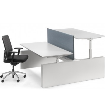 Elektrische Ergo 2-persoons bench werkplek