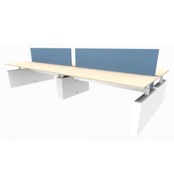 4-persoons bench werkplek Ergo - elektrisch verstelbaar