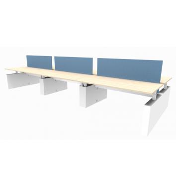 6-persoons bench werkplek Ergo - elektrisch verstelbaar