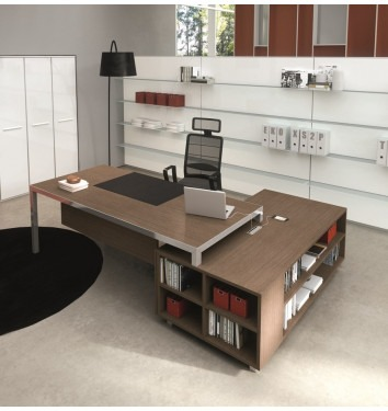 Directiebureau Rim met aanbouwkast in houtdecor