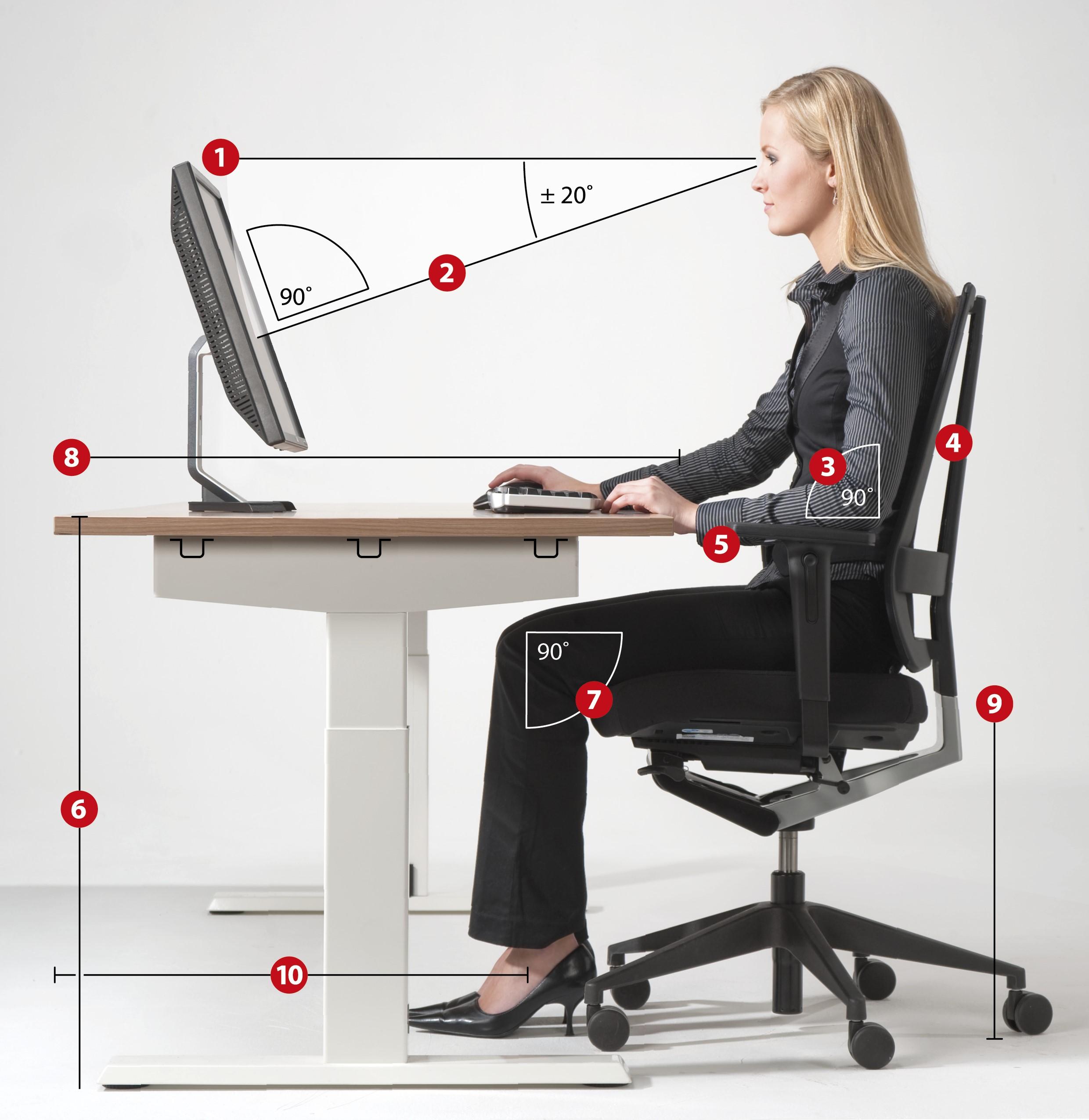 Hoe stel ik mijn bureaustoel in?